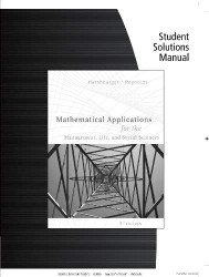 Solutions For Mathematical Applications For Management Life & Social Sciences
