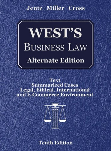 Business Law Alternate Edition