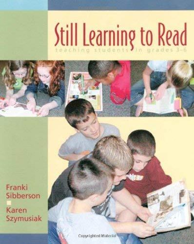 Still Learning To Read Grades 3-6