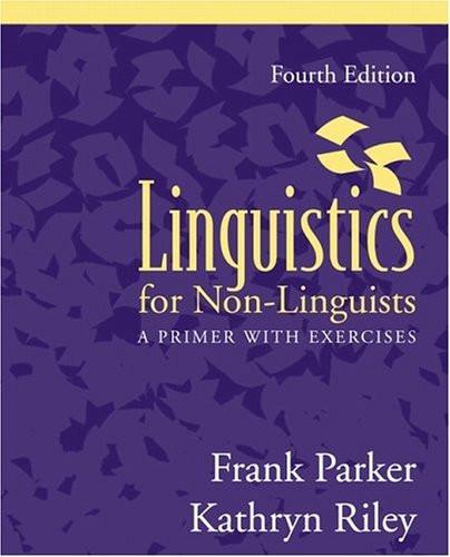 Linguistics For Non-Linguistics