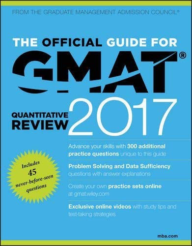 Official Guide For Gmat Quantitative Review With Online Question Bank