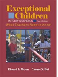 Exceptional Children In Today's Schools