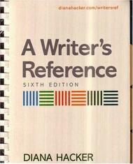 Writer's Reference and Mla Quick Reference Card