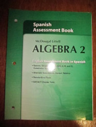 Mcdougal Larson Algebra 2 Assessment Book