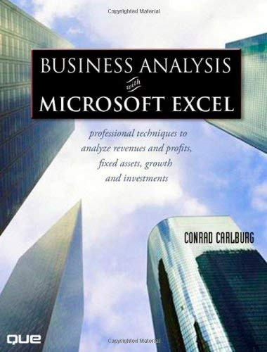 Business Analysis Microsoft Excel