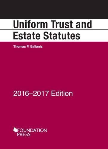 Uniform Trust and Estate Statutes