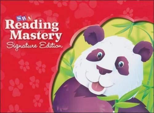 Sra Reading Mastery Signature Edition Grade K