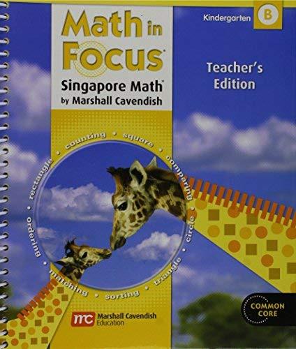 Math In Focus Volume B Grade K
