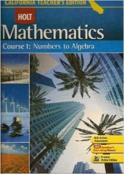 Mathematics Course 1 Numbers To Algebra