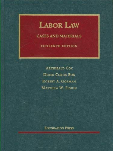 Cox and Bok's Labor Law