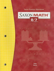 Saxon Math 8/7: Fact Practice Workbook