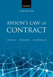 Anson's Law Of Contract