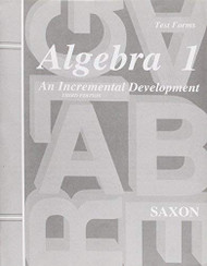 Algebra 1 An Incremental Development Test Forms