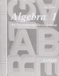 Algebra 1 An Incremental Development Test Forms