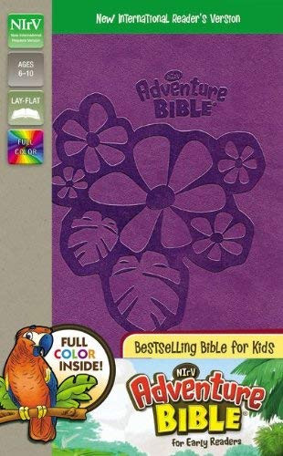NIrV Adventure Bible for Early Readers Imitation Leather Purple Full Color