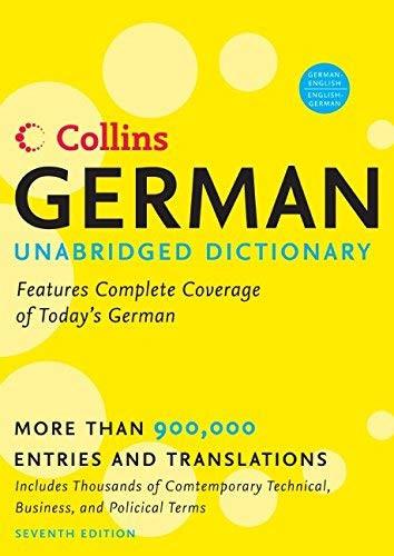 Collins German Unabridged Dictionary