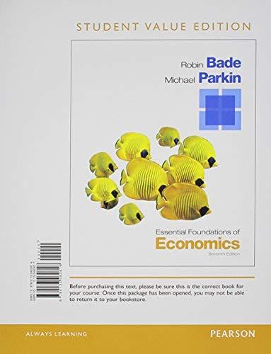 Essential Foundations of Economics