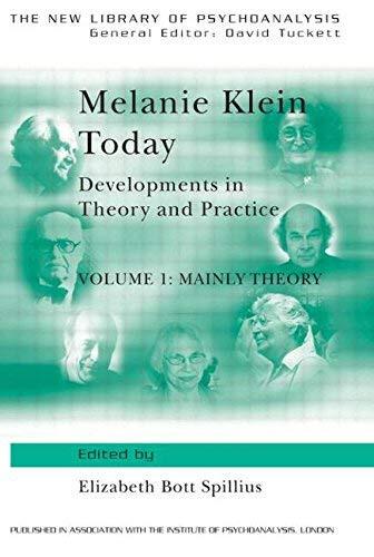 Melanie Klein Today Volume 1