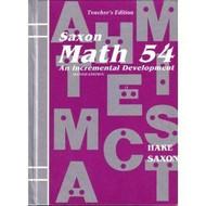 Saxon Math 54 Teacher's Edition