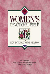 New International Version Women's Devotional Bible Large Print Pink