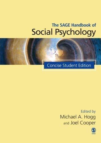 Sage Handbook Of Social Psychology