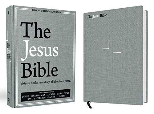 Jesus Bible NIV Edition Cloth over Board Gray Linen