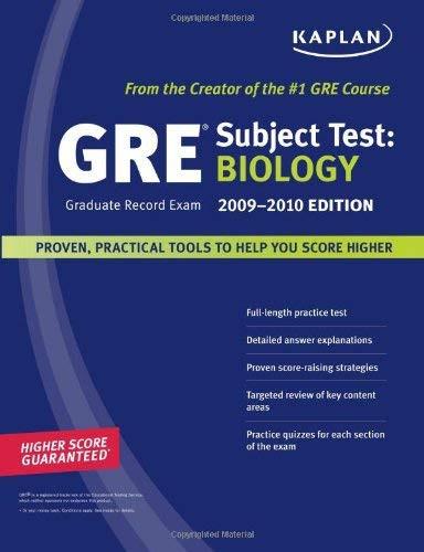 Kaplan Gre Exam Subject Test - Biology