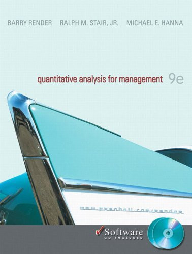 Quantitative Analysis For Management