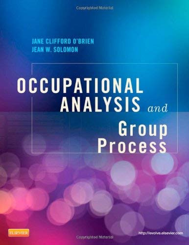 Occupational Analysis And Group Process