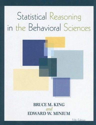 Statistical Reasoning In The Behavioral Sciences