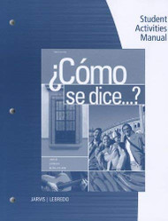 Student Activities Manual For Como Se Dice