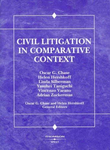 Civil Litigation In Comparative Context