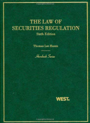 Law Of Securities Regulation
