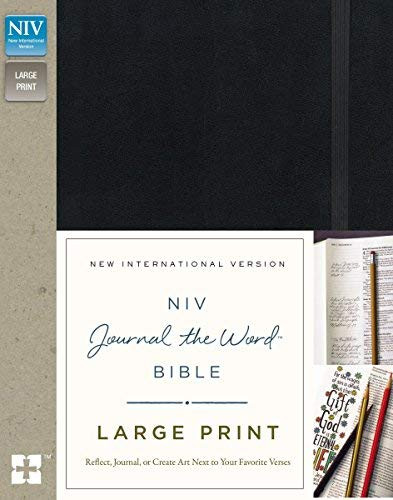 NIV Journal the Word Bible Large Print Black