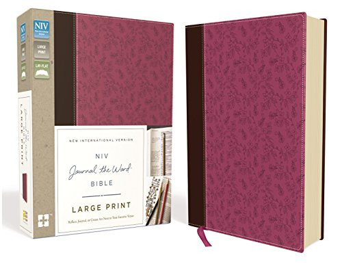 NIV Journal the Word Bible Large Print Leathersoft Pink/Brown