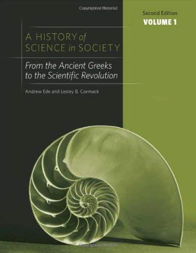 History Of Science In Society Volume 1