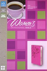 NIV Women's Devotional Bible Leathersoft Pink
