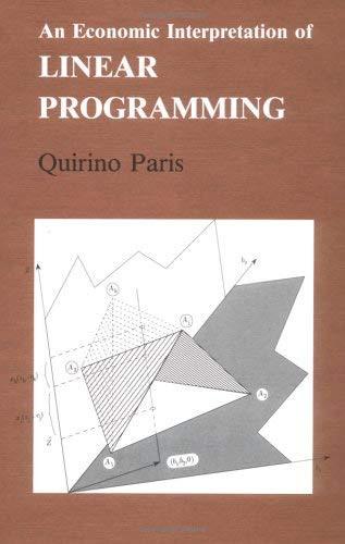 Economic Interpretation Of Linear Programming