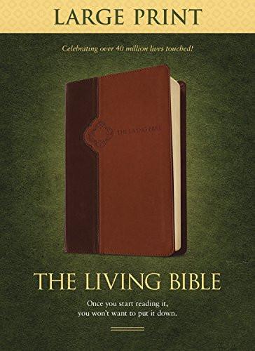 Living Bible Large Print Edition TuTone