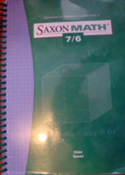 Saxon Math 7/6 - Teacher's Manual Volume 2