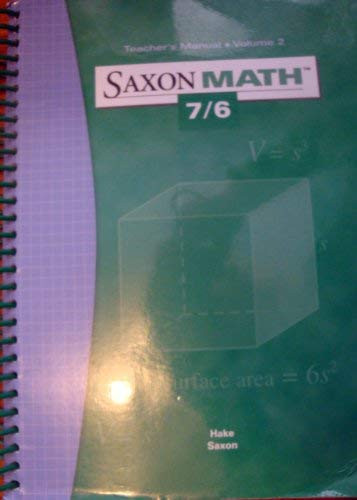 Saxon Math 7/6 - Teacher's Manual Volume 2
