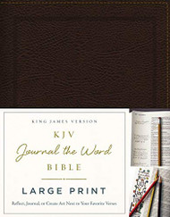 KJV Journal the Word Bible Large Print Bonded Leather Brown Red Letter