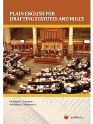 Plain English For Drafting Statutes And Rules