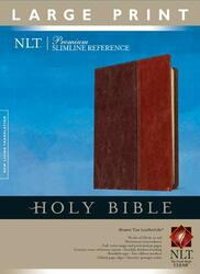 Premium Slimline Reference Bible NLT Large Print TuTone