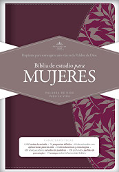 RVR 1960 Biblia de Estudio para Mujeres vino tinto/fucsia s?mil piel
