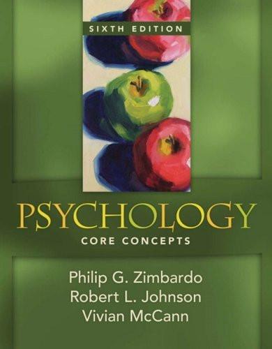 Psychology Core Concepts