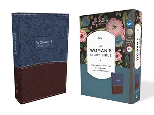 NIV The Woman's Study Bible Leathersoft Blue/Brown Full-Color Receiving
