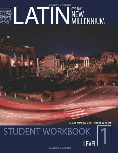 Latin for the New Millennium - Workbook