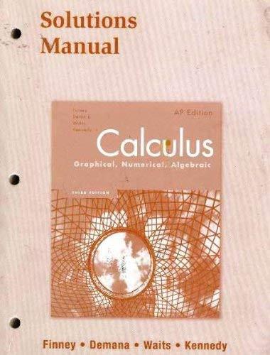 Calculus Solutions Manual
