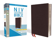 NIV Thinline Bible Giant Print Bonded Leather Burgundy Indexed Red Letter